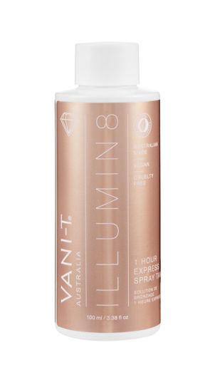 Bild von Vani-T Illumin8 Dry Oil Express Spray Tanning Lotion Testflasche